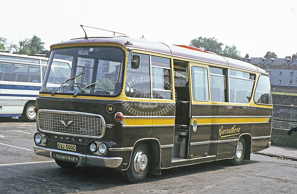 Carruthers, New Abbey Bedford VAS 14 CVJ500D  at Dumfries  in 1978 - Jun - J S C Archive