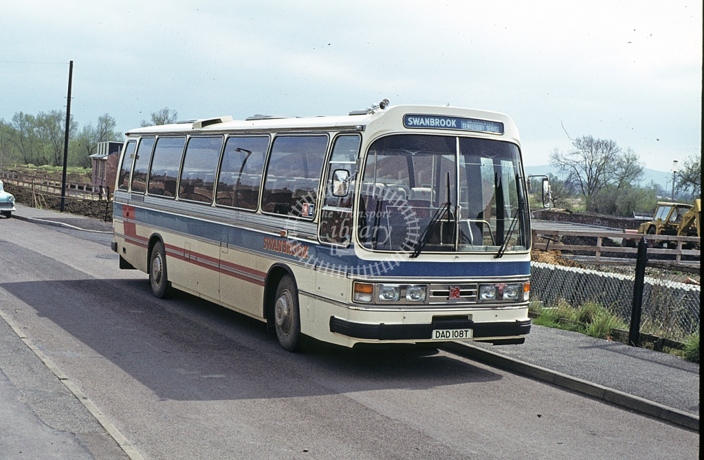 Swanbrook, Staverton Bedford YMT DAD108T  at Tewkesbury  in 1979 - May - J S C Archive
