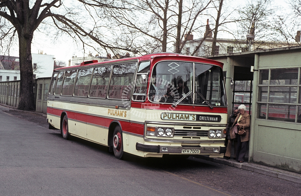 Pulham, Bourton on the Water Leyland Leopard VFH700S  at Cheltenham  in 1979 - Apr - J S C Archive