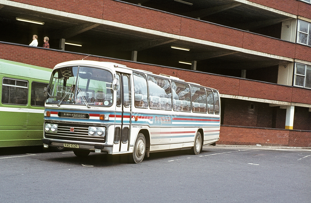 Swanbrook, Staverton Bedford YMT RAD102R  at Gloucester  in 1979 - Apr - J S C Archive