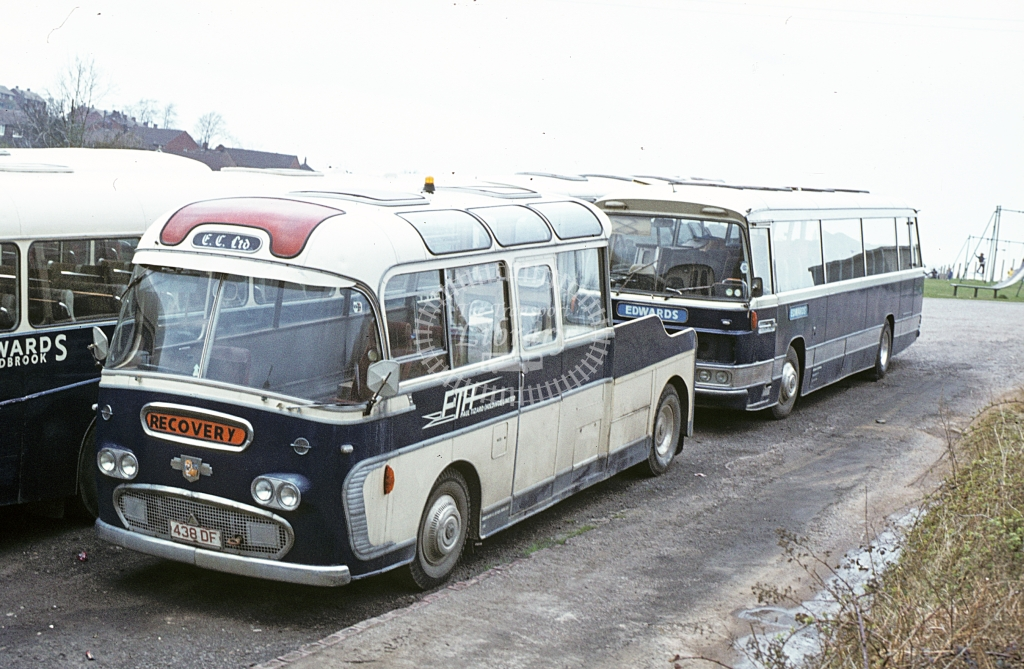 Edwards, Lydbrook Leyland Leopard tow truck tp438DF  at Lydbrook yard  in 1979 - Apr - J S C Archive