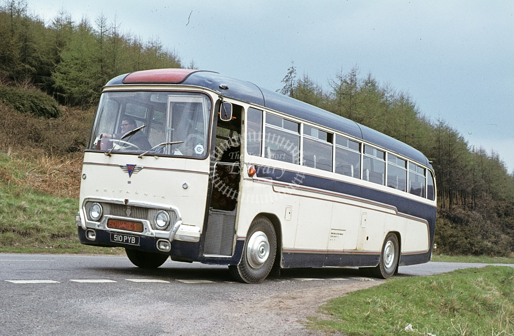 Edwards, Lydbrook AEC Reliance 510PYB  at Lydbrook yard  in 1979 - Apr - J S C Archive