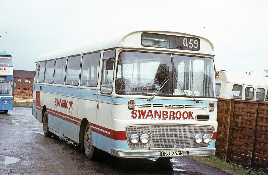Swanbrook, Staverton Bedford YRQ HKJ255N  at operator's yard  in 1982 - Oct - J S C Archive