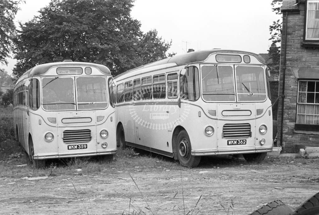 Maidstone & District with TPE, dealer Beadle-AEC WKM959/62  at TPE's Mill Lane, Macclesfield, yard  in 1965 -  15/7/65  - J S Cockshott