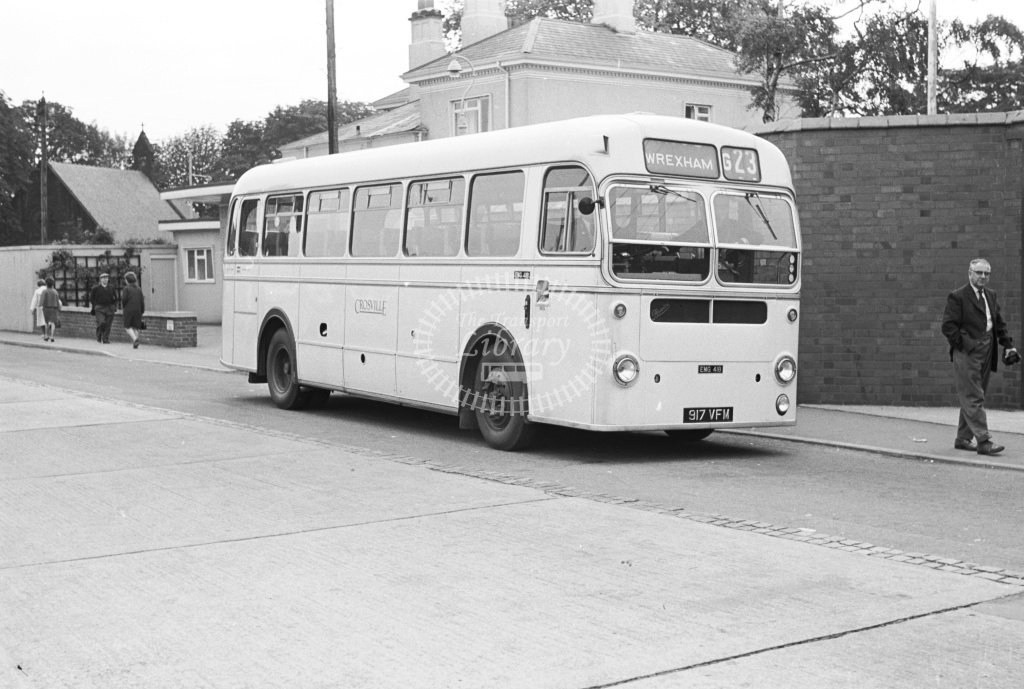Crosville Bristol MW EMG418 917VFM  at Wrexham bus station  in 1965 -  16/7/65  - J S Cockshott