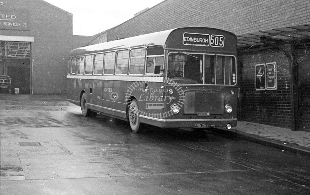 United Bristol RE 4168 RHN268F  at Berwick  in 1968 -  November  - JS Cockshott