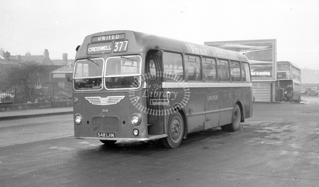 United Bristol MW 2548 548LHN  at Berwick  in 1968 -  November  - JS Cockshott