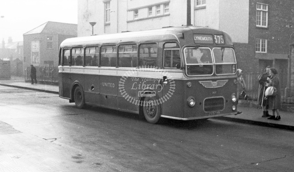 United Bristol MW 2597HN  at Morpeth  in 1968 -  November  - JS Cockshott