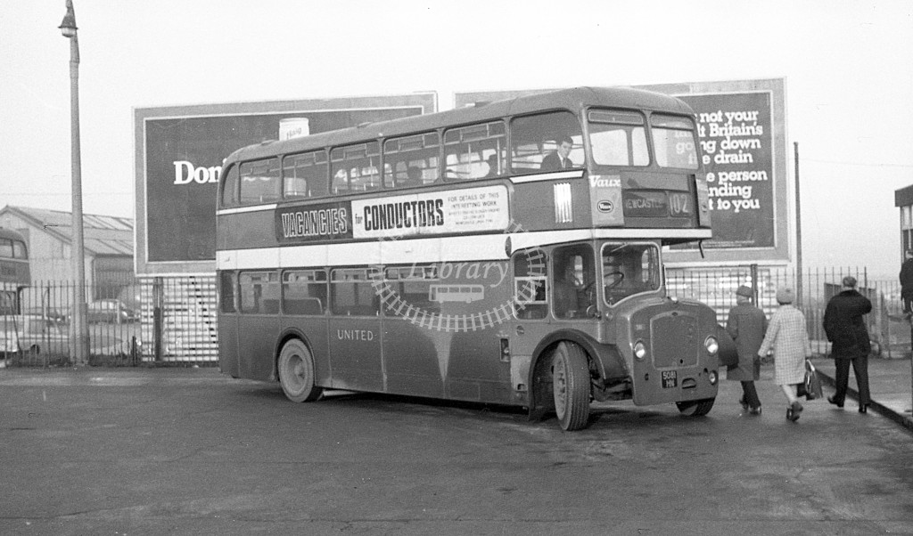 United Bristol FLF 5081HN  at Morpeth  in 1968 -  November  - JS Cockshott