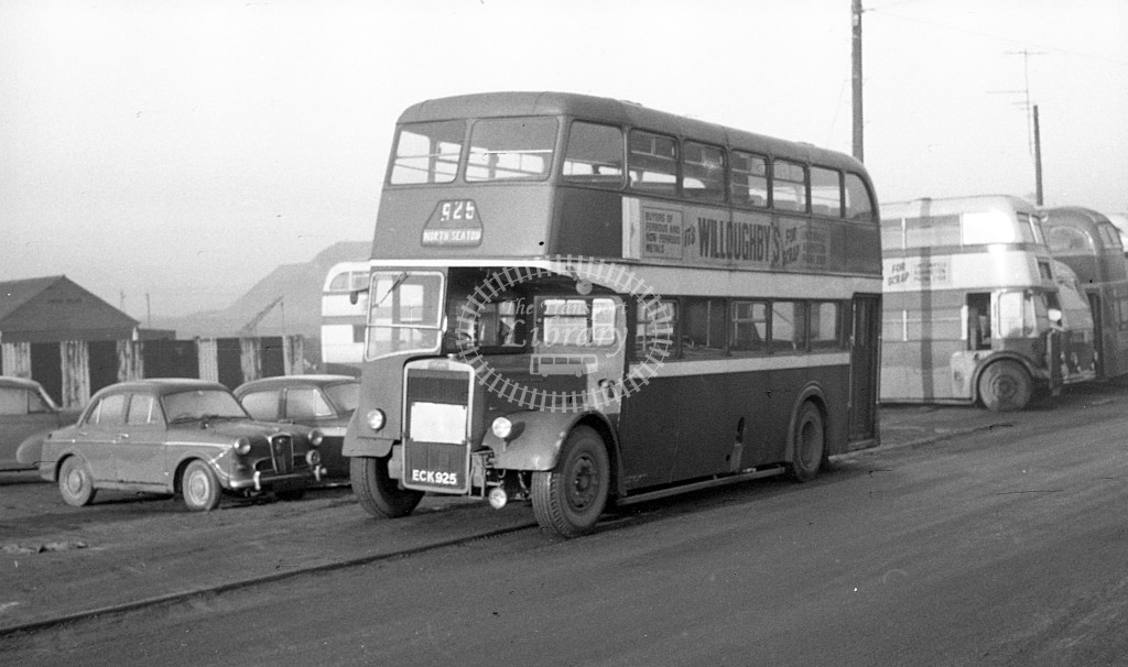 Bedlington & District Leyland PD2 ECK925  at depot  in 1968 -  November  - JS Cockshott