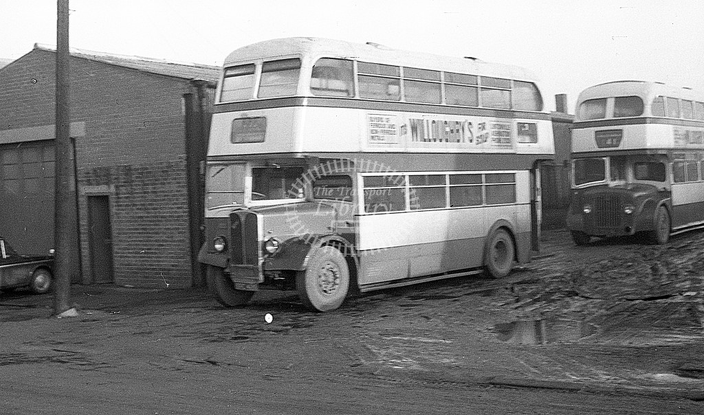 Bedlington & District AEC Regent III SFC428  at depot  in 1968 -  November  - JS Cockshott