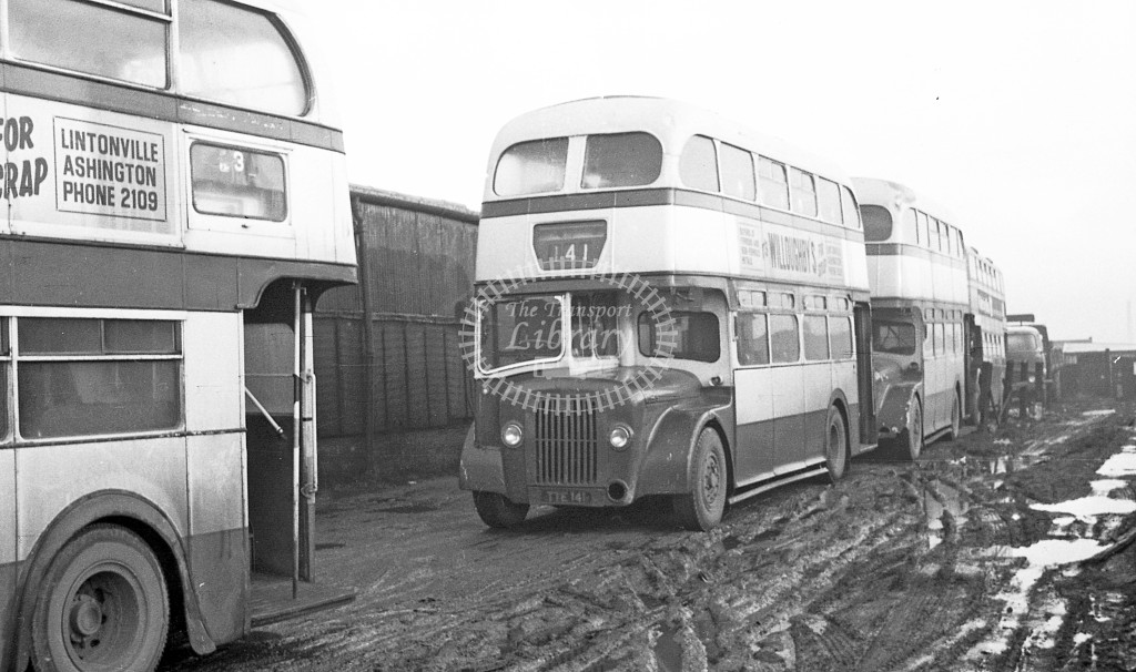Bedlington & District Guy Arab IV TTE141  at depot  in 1968 -  November  - JS Cockshott
