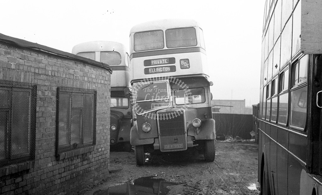 Bedlington & District Leyland PD2 GFY397  at depot  in 1968 -  November  - JS Cockshott