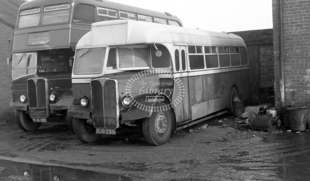 Bedlington & District AEC Regal III OJO726  at depot  in 1968 -  November  - JS Cockshott
