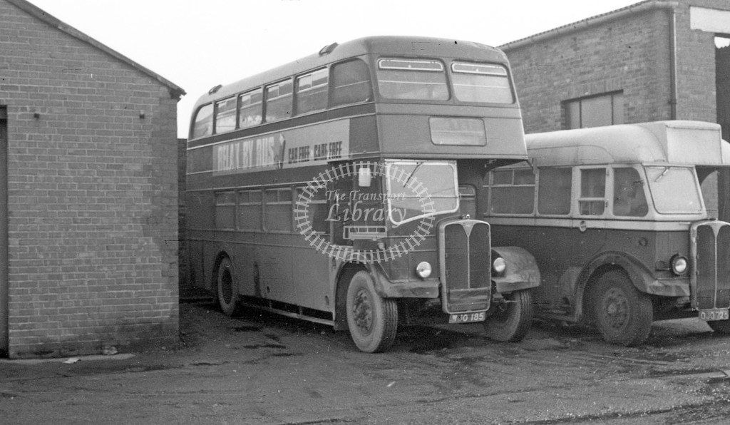 Bedlington & District AEC Regent III WJO185  at depot  in 1968 -  November  - JS Cockshott