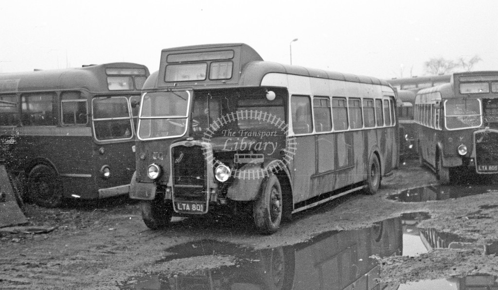 Western National Bristol L LTA801  at North, dealer, Sherburn in Elmet yard   in 1968 -  November  - JS Cockshott