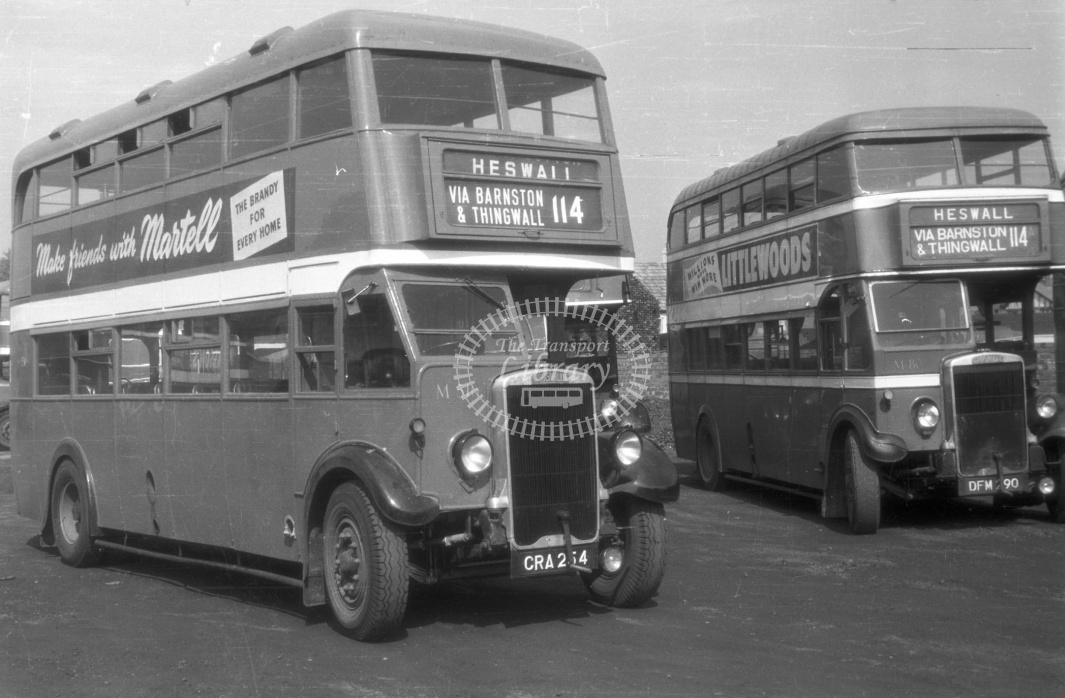 Crosville Leyland CRA264 in 1954 - 30/5/54 - J S Cockshott