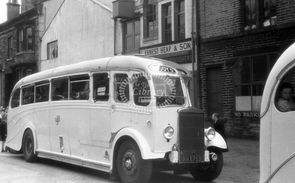 Boddy, Hull Leyland TS RN8754  in 1955 -  6/8/55  - J S Cockshott