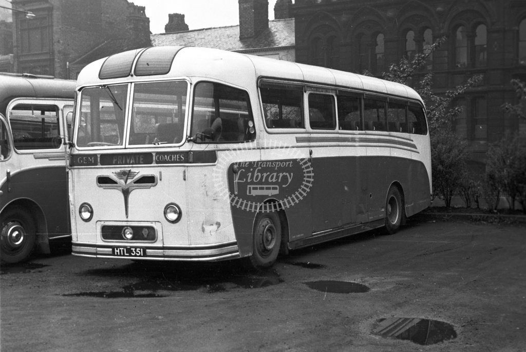 Gem, Colsterworth AEC Reliance HTL351 at East St Parking ground, Mcr in 1958 - 10/5/58 - J S Cockshott