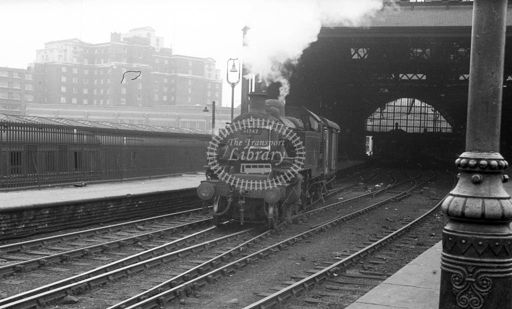 British Railways Steam Locomotive 41247  at not recorded  in 1959 -  6/9/59  - J S Cockshott