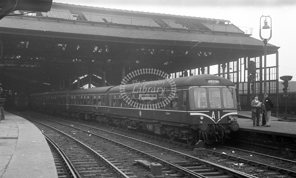 British Railways Diesel Railcar  at not recorded; RCTS trip to Towyn  in 1959 -  6/9/59  - J S Cockshott