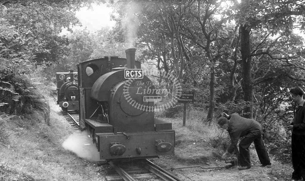 Tall-y-lyn Railway Steam Locomotive Sir Haydn  at RCTS trip  in 1959 -  6/9/59  - J S Cockshott