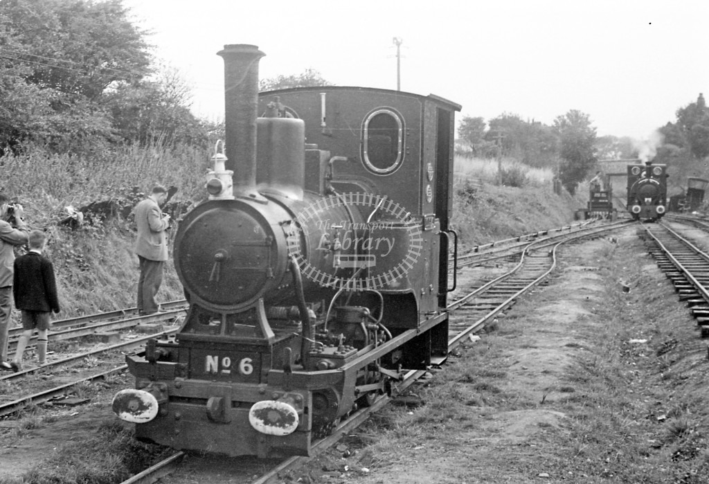 Tall-y-lyn Railway Steam Locomotive 6  at RCTS trip  in 1959 -  6/9/59  - J S Cockshott