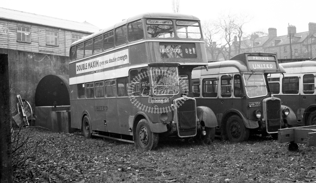 United Bristol K BGL47 HHN56  at Darlington  in 1960 -  20/12/60  - J S Cockshott