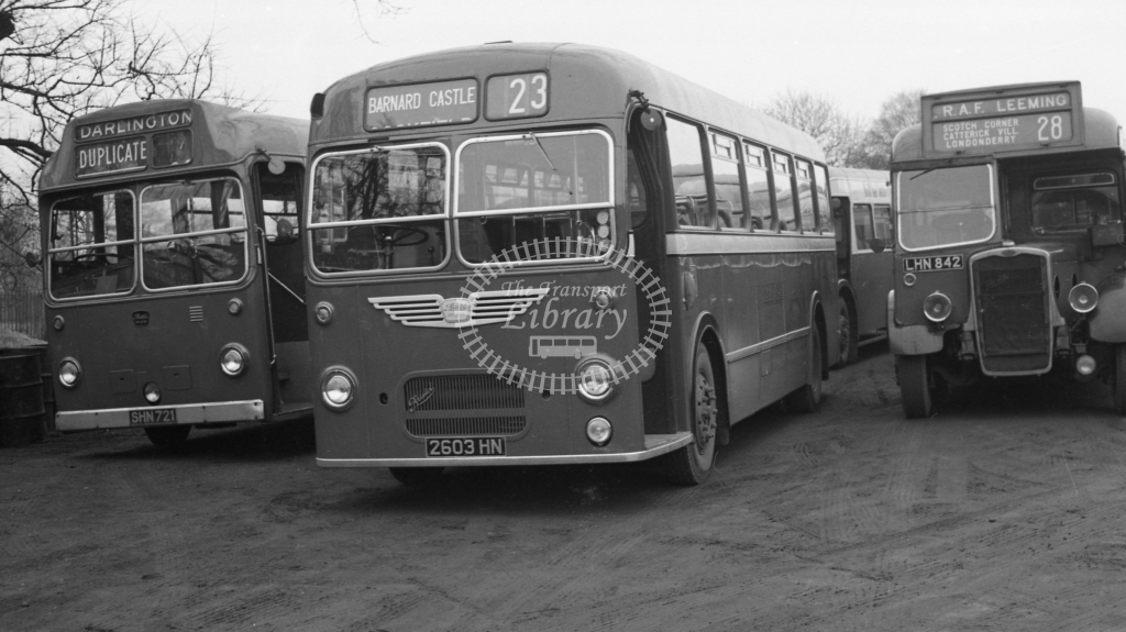 United Bristol MW BU603 2603HN  at Darlington  in 1960 -  20/12/60  - J S Cockshott