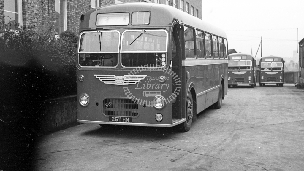 United Bristol MW BU611 2611HN  at Darlington  in 1960 -  20/12/60  - J S Cockshott