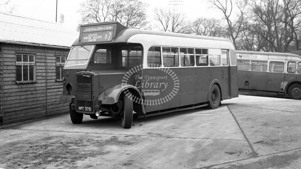 Durham District Leyland PS1 HPT373  at Darlington  in 1960 -  20/12/60  - J S Cockshott