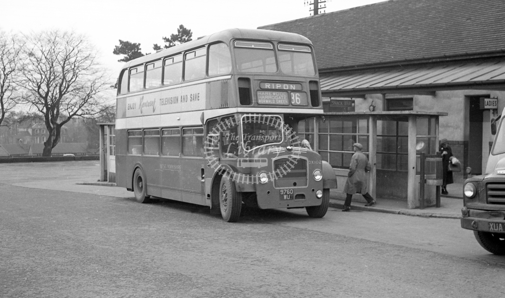 West Yorkshire Bristol LD DX102 9760WU  at Ripon  in 1960 -  20/12/60  - J S Cockshott