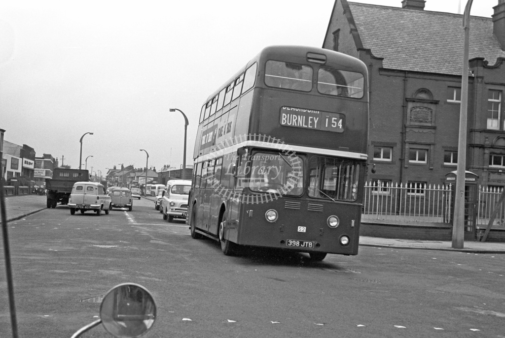 Scout, Preston Leyland PDR1 S2 398JTB at Blackpool in 1957 - 22/10/57 - J S Cockshott