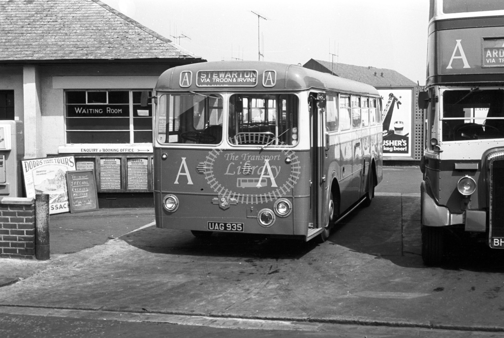 AA Leyland PSU1 UAG935 at Ayr in 1963 - 11/6/63 - J S Cockshott