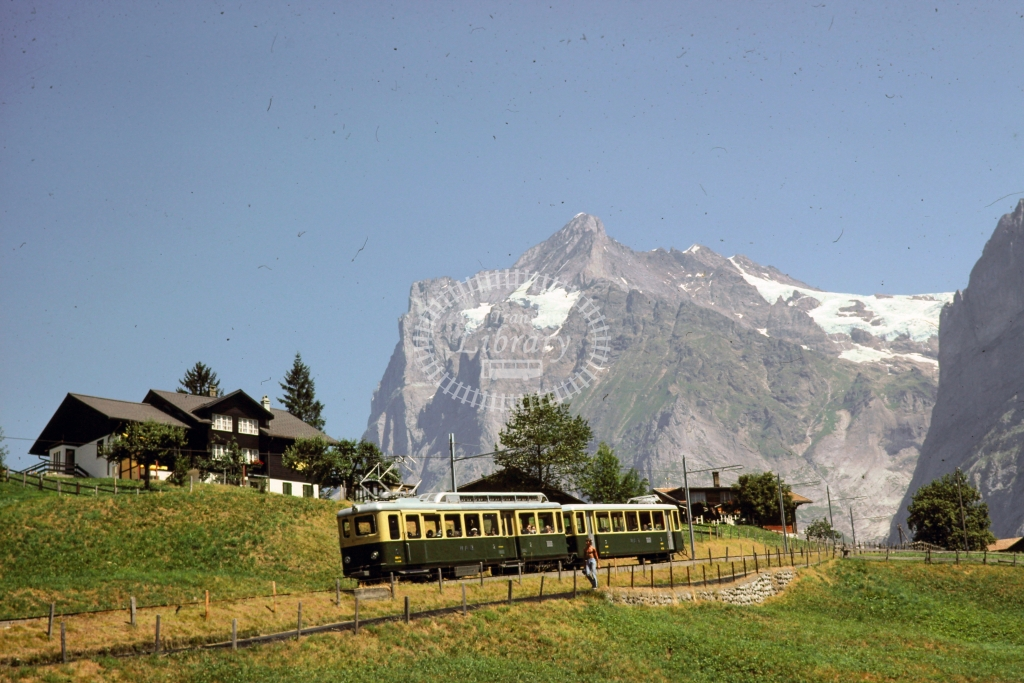 WAB Wengeralpbahn Electric Railcar 2 at First -  in 1997 - 07/72- James Winkley