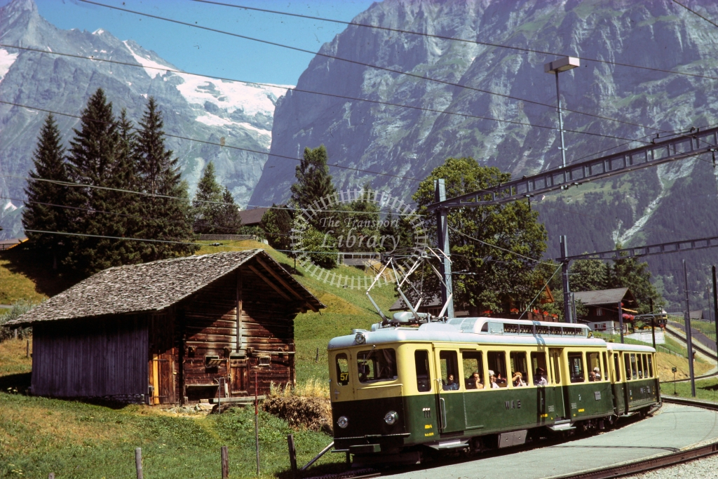 WAB Wengeralpbahn Electric Railcar 2 at Descending to First -  in 1997 - 06/70- James Winkley