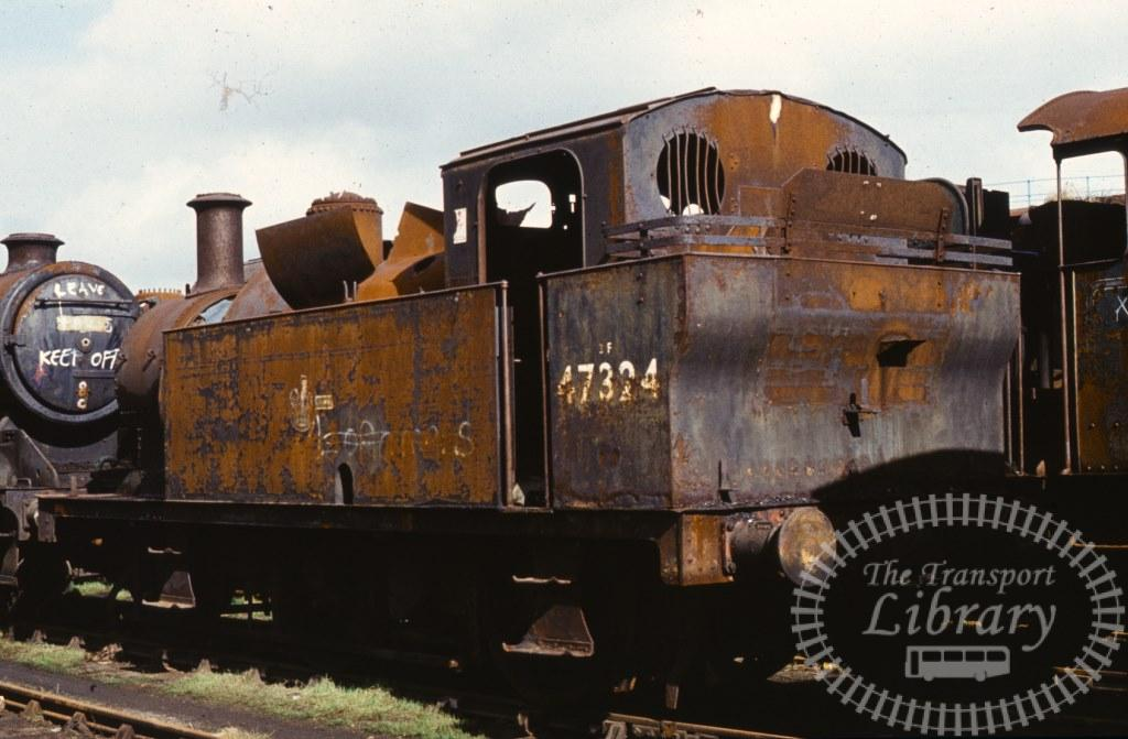 BR British Railways Steam Locomotive Class 3F-F 47324  at Woodham Brothers, Barry in 1974 - 02/03/1974 - Keith Taylorson