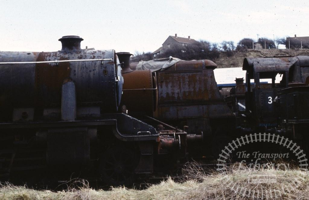 BR British Railways Steam Locomotive Lineup  at Woodham Brothers, Barry in 1974 - 02/03/1974 - Keith Taylorson