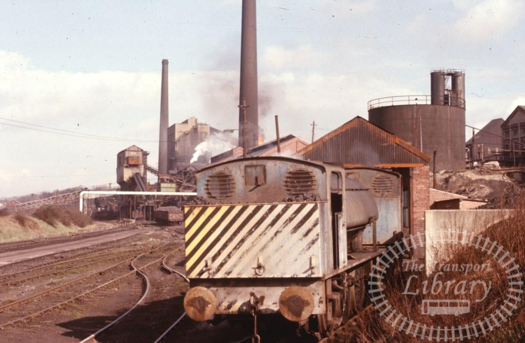 Smithywood Coking Plant Steam Locomotive 1  at Smithywood in 1974 - 19/03/1974 - Keith Taylorson