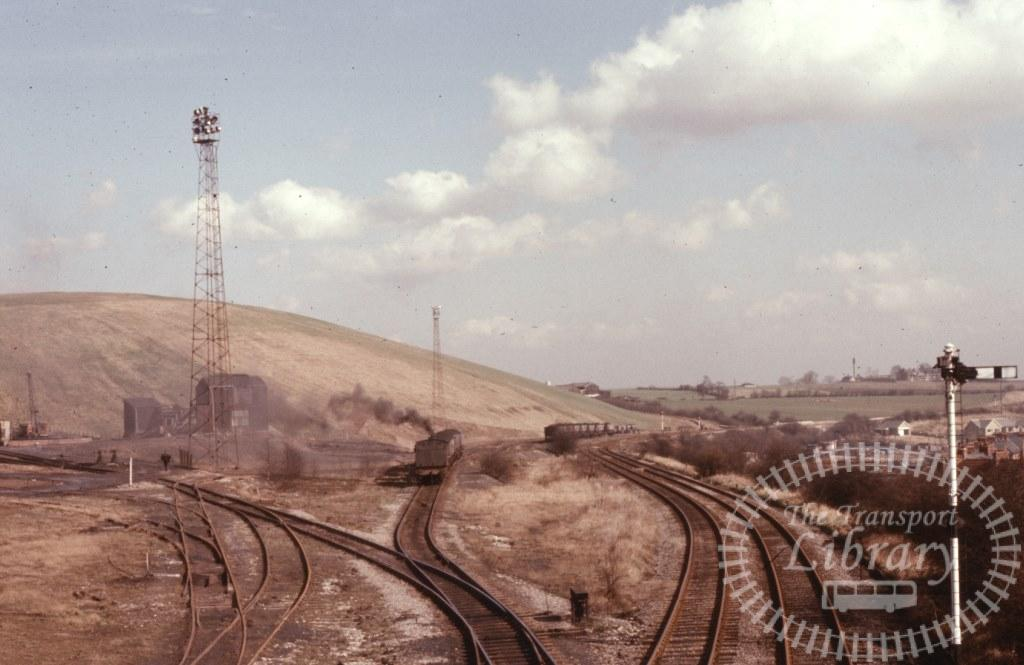 NCB National Coal Board Steam Locomotive 8  at Dodworth Colliery in 1974 - 19/03/1974 - Keith Taylorson