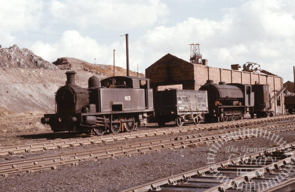 NCB National Coal Board Steam Locomotive 2 & 6  at North Gawber Colliery in 1974 - 19/03/1974 - Keith Taylorson