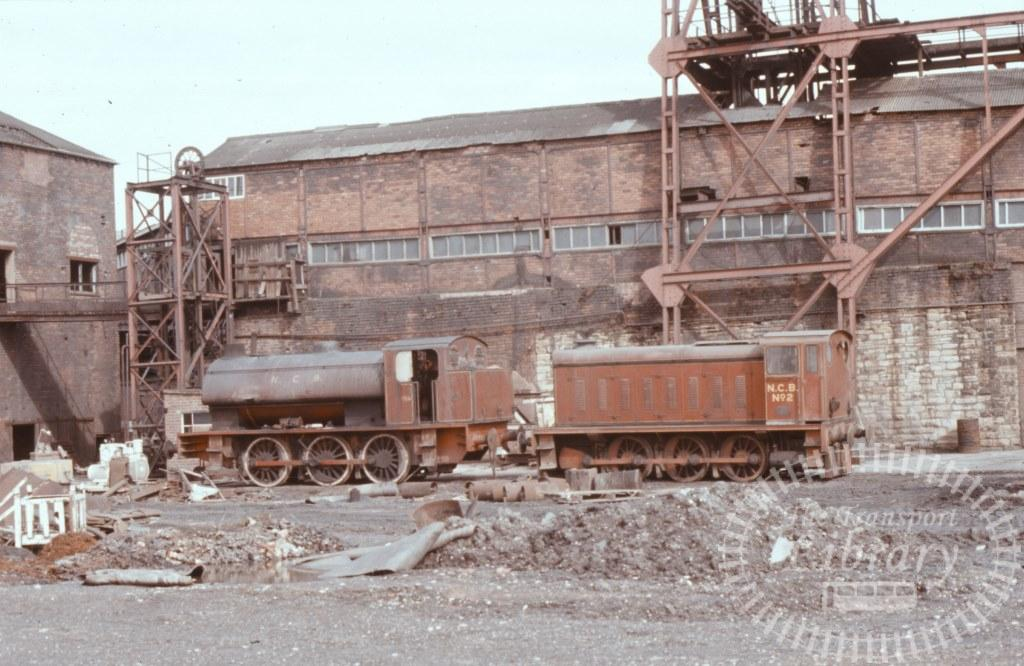 NCB National Coal Board Diesel Locomotive 2  at Newmarket Colliery in 1974 - 19/03/1974 - Keith Taylorson