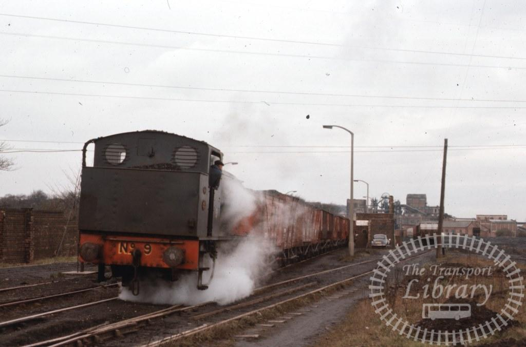 NCB National Coal Board Steam Locomotive 9  at Backworth Colliery in 1975 - 14/03/1975 - Keith Taylorson