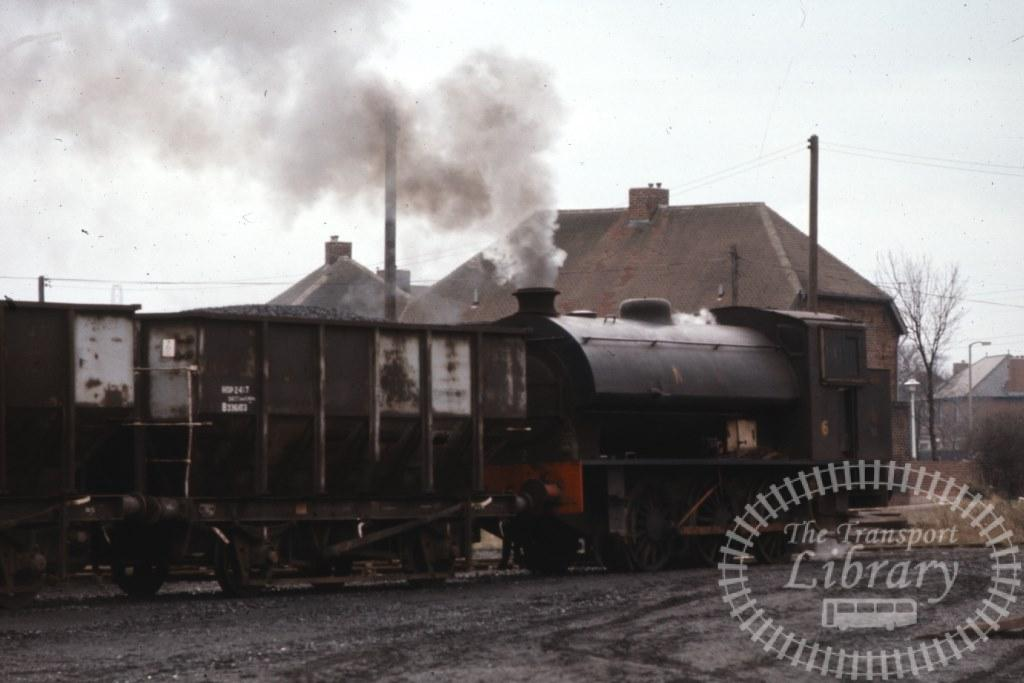 NCB National Coal Board Steam Locomotive 6  at Backworth Colliery in 1975 - 14/03/1975 - Keith Taylorson
