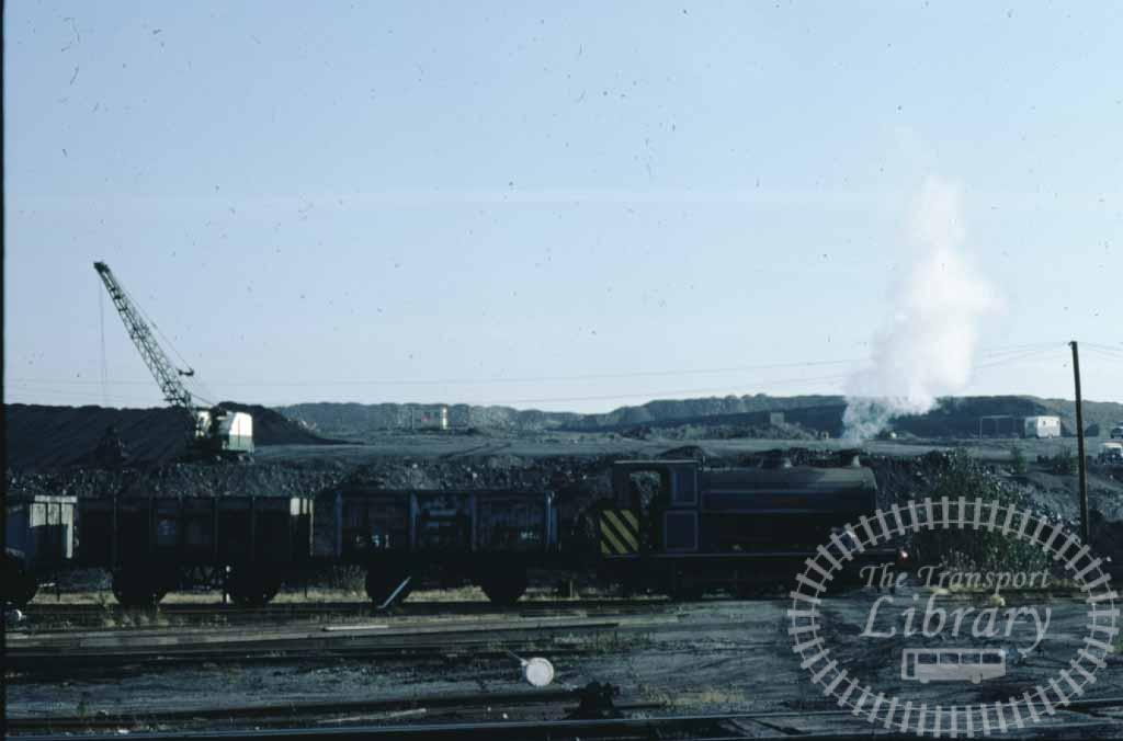 NCB National Coal Board Steam Locomotive  at Snowdown Colliery in 1977 - 14/10/1977 - Keith Taylorson