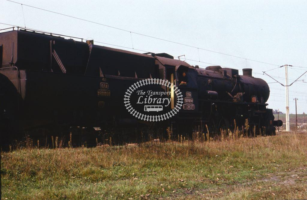 CFR Romania Railways Steam Locomotive Class 150 150 1014  at Simeria in 1975 - 24/09/1975 - Keith Taylorson