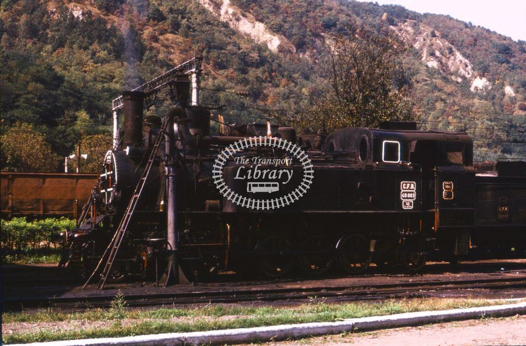 CFR Romania Railways Steam Locomotive Class 40 40 003  at Subcetate in 1975 - 24/09/1975 - Keith Taylorson