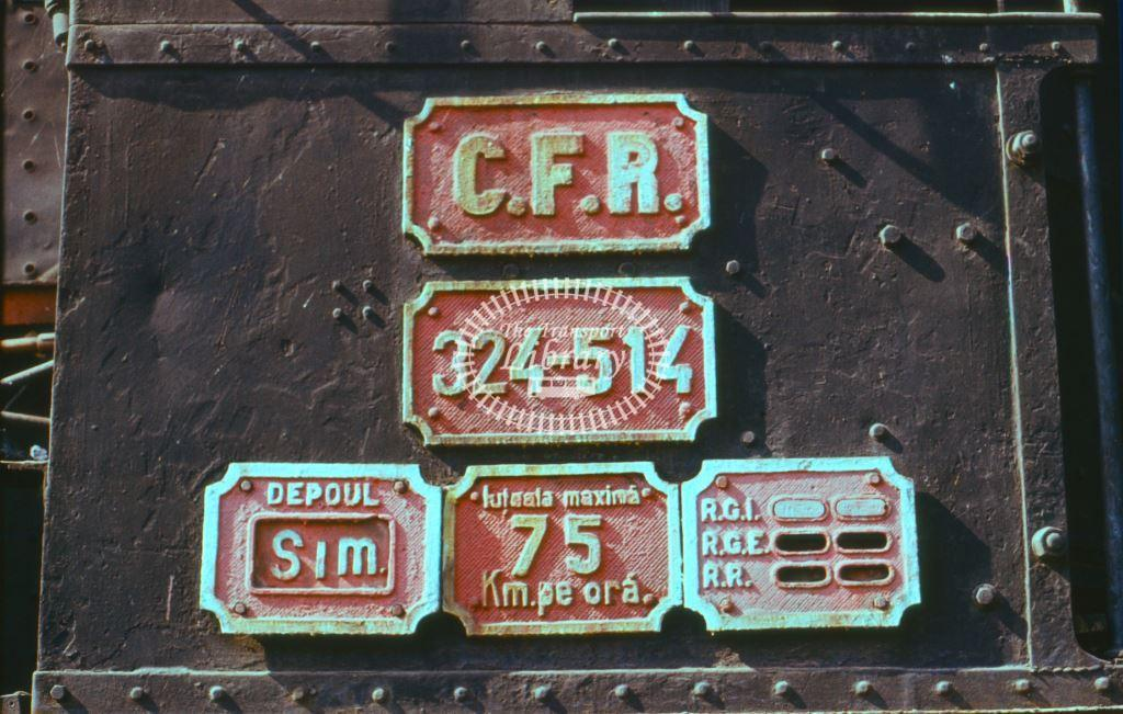 CFR Romania Railways Steam Locomotive Class 324 324 514  at Subcetate in 1975 - 24/09/1975 - Keith Taylorson