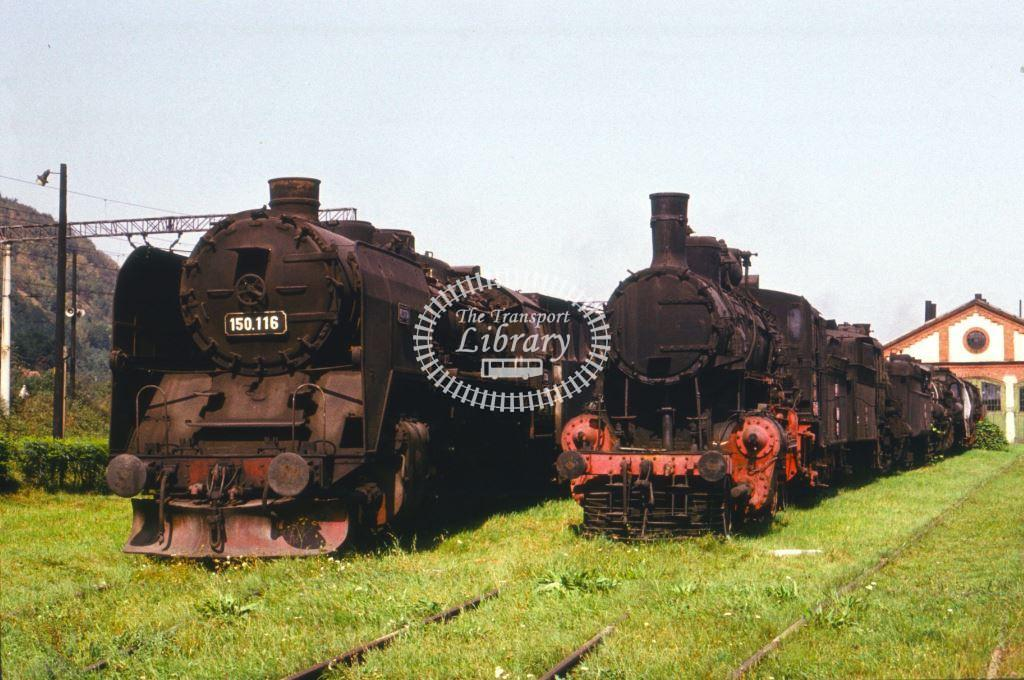 CFR Romania Railways Steam Locomotive Class 150 150 116  at Subcetate in 1975 - 24/09/1975 - Keith Taylorson