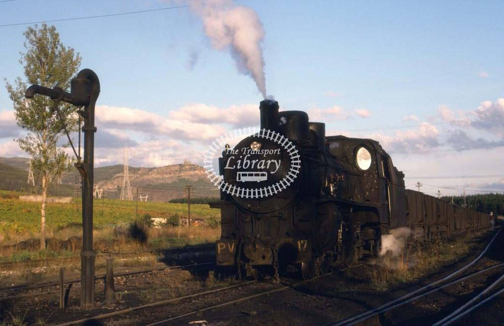 PV Ponferrada Villablino Railway Steam Locomotive 17  at Cubillos in 1981 - 08/10/1981 - Keith Taylorson